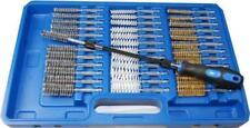 38 pc Wire Brush Set Brass Steel & Nylon Rotary Brushes