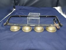 Antique Brass Bells W/ Hanger & Clappers Sleigh Wagon Cart
