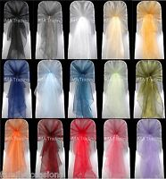 ORGANZA CHAIR HOODS EXTRA LARGE BOW SASH WRAP COVERING FABRIC WEDDING PARTY UK
