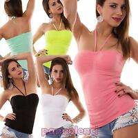 Top donna fascia maglia dimagrante modellante coppe bandeau nuovo 3702