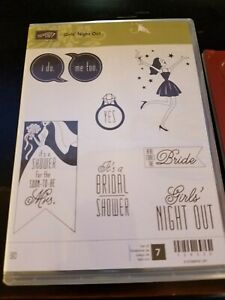 Stampin Stamp In Up Stamps Cling Labels Foam Girls Night Out 7 Bride Shower YES