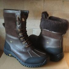 UGG Adirondack II Obsidian Brown Waterproof Leather Snow Boots Size US 10 Womens