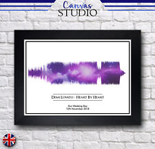 A4 Personalised Soundwave Song Framed Print Picture Galaxy Wedding Present Gift!