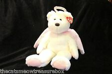 """TY Beanie Buddie Halo 15"""" White and Pink 4th Generation Tag Ange Plushl Bear"""
