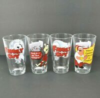 Family Guy Christmas Pint Drinking Glasses Set of 4 2010 by ICUP Holiday Comical