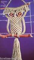 Macrame using new fibers: OWLS, plant hangers, VINTAGE booklet - see pics