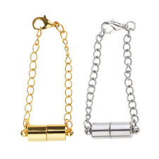 2x Gold Silver Tone Magnetic Magnet Clasps Necklace Bracelet Extender Chains