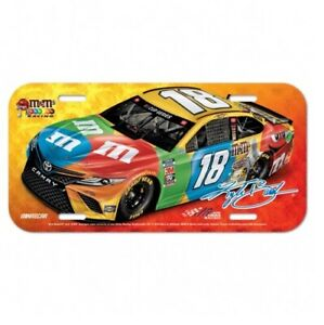 Kyle Busch #18 2020 M&M's Plastic License Plate Free Shipping