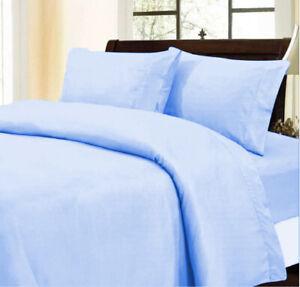 Comfy Duvet Collection Egyptian Cotton Sky Blue Solid AU Sizes Choose Item