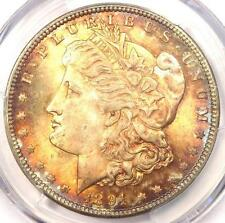 1891-CC Morgan Silver Dollar $1 - PCGS MS65 - Rainbow Tone - $4,900 Value!