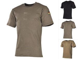 MFH BW Tropenhemd mit Klett T-Shirt Kurzarmhemd Bundeswehr Herrenhemd S-XXL