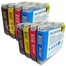8 BROTHER DCP-135C compatible printer ink cartridges