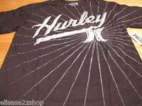 Men's Hurley T shirt regular fit S SM surf skate TEE black LOGO tee NEW Rays NWT