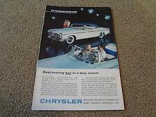 "1955 Chrysler Windsor Deluxe Vintage Magazine Ad ""Favorite of All Nations"""
