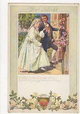 Deutscher Schulverein Die Glocke Germany Art Vintage Postcard 223a