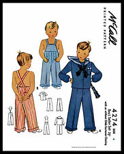 BOY'S SAILOR Suit Nautical Sewing Pattern McCall #4274 Costume Play Overalls ~4~