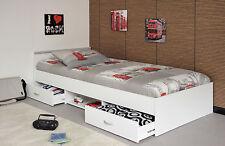 Bett Funktionsbett 90 x 200 cm weiss Woody 167-00028