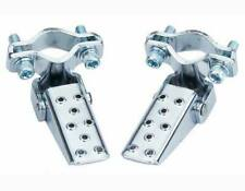 NEW! Pair Bicycle Steel Foldable Folding Fork Foot Step Pegs Chrome Bike BMX MTB