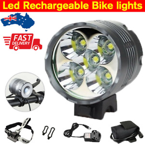 10000Lm 5X Cree Xml T6 Led Mtb Bike Bicycle Front Lights Headlight Rechargeable