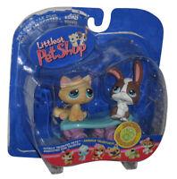 Littlest Pet Shop Totally Talented Pets Cat & Rabbit Toy Figure Set #121-122