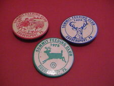 LOT /3 1971,74,78 SUMMIT FEEDING CLUB COUDERSPORT PENNSYLVANIA DEER HUNTING PINS