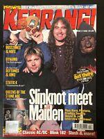 Iron Maiden Slipknot on cover of KERRANG UK AC/DC poster QoTsA Korn Pantera
