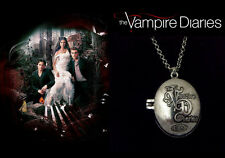 THE Vampire Diaries Elena Gilbert ARGENTO ANTICATO CATENA/Collana e Ciondolo/Ciondolo