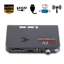 Pop HDMI 1080P VGA DVB-T2 TV Box CVBS Tunner Receiver W/ Remote Control Use Good