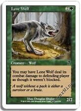 1 FOIL Lone Wolf - Green Seventh 7th Edition Mtg Magic Common 1x x1