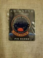 AD ASTRA Movie Promo Pin Badge Imax Amc