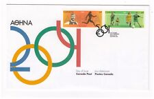 CANADA 2004 OLYMPIC GAMES ATHENS HORIZONTAL PAIR OFFICIAL FIRST DAY COVER