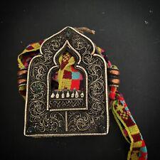 Tibetan Gau Ghau Amulet Tibet Buddha Nepal Asia (A514)