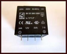 Print Trafo Transformator 230V/12V 3VA 250mA BV EI 306 3365 1 Stück