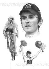 GERAINT THOMAS Tour De France 2018 Winner Yellow Jersey Cycling Art Print G