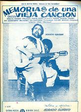 HORACIO GUARANY MEMORIAS DE UNA VIEJA CANCION  1970