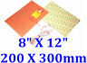 "8"" X 12"" 200 X 300mm 3M PSA Thermistor 3D Printer HeatBed JSRGO Silicone Heater"