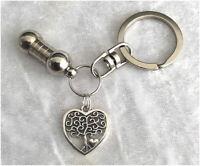 Cremation Jewellery Ashes Urn Keyring w Tree of Life Heart Keepsake Memorial