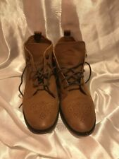 Topshop Tan Leather Ankle Boots Size 39