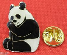 Panda Bear Lapel Hat Cap Tie Pin Badge Cute Cuddly Animal Lovers Brooch