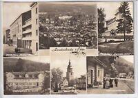 """Ansichtskarte Friedrichroda - Heim """"Ulbricht""""+""""Danz""""+""""Im Grund"""" - Waldbahn - s/w"""