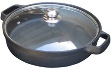 Gasmate ODYSSEY CAST IRON BAKING DISH Glass Lid, Dishwasher Safe *Aust Brand