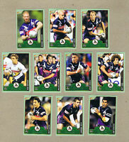 2006 MELBOURNE STORM  ACCOLADE RUGBY LEAGUE CARDS