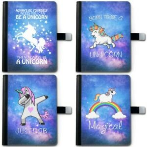 Unicorn Stars Galaxy Deluxe PU Leather 360 Swivel Ipad Case, Tablet Cover