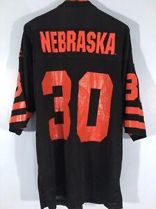 NEBRASKA STARTER BLACK RED VINTAGE AMERICAN FOOTBALL SHIRT NFL JERSEY M