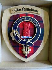 NEW Scottish Clan MacNaughton Castle Oak Tartan Plaque Crest Shield