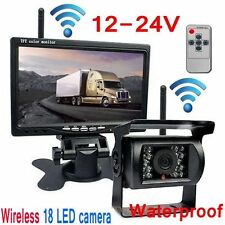 "Built-in Wireless Night Vision Rear View Camera 7"" Monitor For Truck/Trailer/Van"