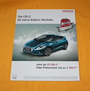 Honda CR-Z 2011 Prospekt Brochure Depliant Catalog Broschyr Folder Prospetto