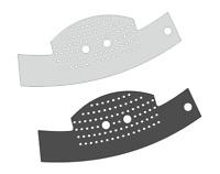 2 x Schutzfolie für Jura C Line - Abtropfblech Tassenablage C5 C50 C55 C60 C65