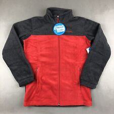 Columbia Youth Fleece Jacket Coat Size Large 14/16 Red & Charcoal NWT