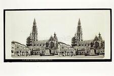 Anvers Antwerpen Belgique Photo Plaque stéréo par Lachenal & Favre ca 1865